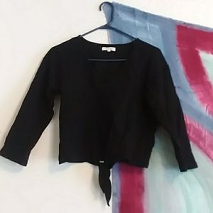 Maxwell textured tie front top - only worn once